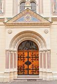 foto of boll  - Entrance portal of Church of Saints Cyril and Methodius  - JPG
