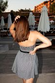 image of skinny girl  - Beautiful skinny girl outdoors in the Turkey - JPG