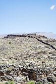 picture of jabal  - Image of mountains Jebel Akhdar and blue sky in Oman - JPG