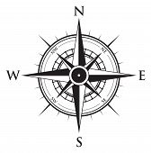 pic of compasses  - a black and white vector compass background - JPG
