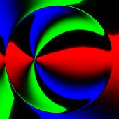 stock photo of hallucinogens  - Abstract crazy colorful circle like a unusual background - JPG