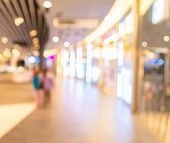 picture of mall  - blurred image of shopping mall and people  - JPG