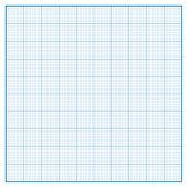 image of graph paper  - Vector square engineering graph paper with 10 metric divisions - JPG