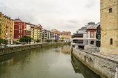 pic of basque country  - Bilbao city center view - JPG