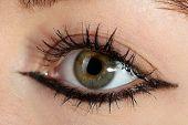 pic of eye-wink  - Human eye close up - JPG