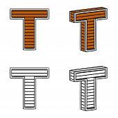 stock photo of letter t  - Letter T  - JPG