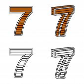 pic of number 7  - Number seven  - JPG