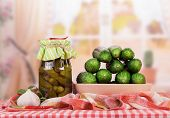 picture of pickled vegetables  - Fresh and pickled cucumbers - JPG