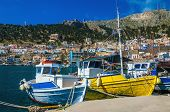 stock photo of hydra  - Colorful boats - JPG