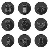 stock photo of anubis  - Set of icons on ancient Egypt theme for your design - JPG