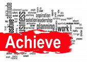 stock photo of achievement  - Achieve word cloud image with hi - JPG