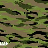 stock photo of camoflage  - Camouflage Seamless Pattern - JPG