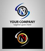 stock photo of letter n  - Abstract icons based on the letter N logo - JPG