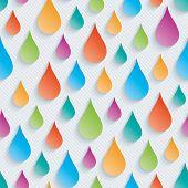 image of raindrops  - Colorful raindrops wallpaper - JPG