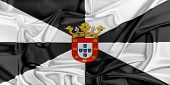 image of ceuta  - Flag of Ceuta waving in the wind - JPG