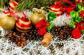 foto of pine cone  - New Year Christmas - JPG