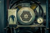 image of air compressor  - Close up shot of old air compressor - JPG