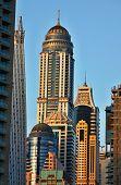 picture of emirates  - Skyscrapers in Dubai Marina at sunset - JPG