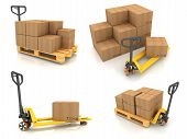 stock photo of pallet  - Warehouse Concept - JPG