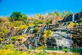 stock photo of lats  - The big Pongour waterfall near Da Lat city - JPG