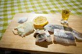 foto of food chain  - Fillet herring with lemon - JPG