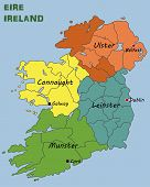pic of political map  - Illustration of a Political Map of Ireland - JPG
