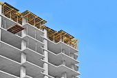 pic of concrete  - Monolithic building construction site work from concrete - JPG