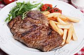 image of rocket salad  - Beef rib - JPG