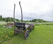 pic of wagon  - Worn out wagons at an outdoor Public Museum - JPG