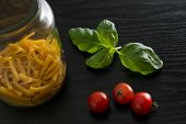 picture of black-cherry  - Still life with cherry tomatoes - JPG