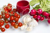 picture of radish  - Cherry tomatoes - JPG