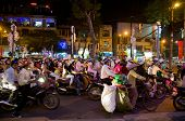Christmas Shoppers In Vietnam