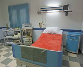 picture of intensive care  - Intensive care ward in a medical centre with monitoring equipment - JPG