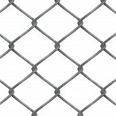picture of chain link fence  - high - JPG