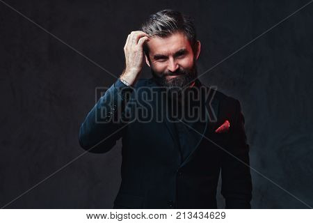 A stylish bearded