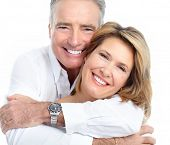 picture of old couple  - Senior smiling couple in love - JPG