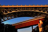 foto of burlington  - dramatic angle of a bridge against morning sky - JPG