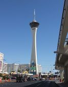 A View of the Stratosphere Hotel and Casino