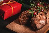 Christmas Yule Log Cake poster