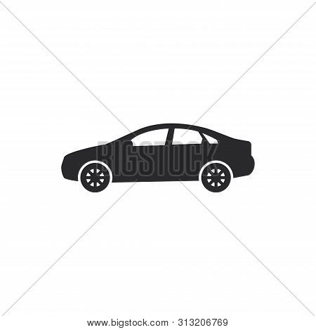 poster of Sedan Car Icon Isolated On White Background. Sedan Car Icon In Trendy Design Style For Web Site And