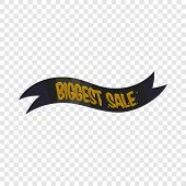 Ribbon Biggest Sale Icon. Cartoon Illustration Of Ribbon Biggest Sale Vector Icon For Web poster