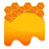 Honey Comb Icon. Cartoon Of Honey Comb Icon For Web Design Isolated On White Background poster