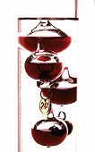 picture of galileo-thermometer  - Close - JPG