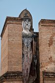 View Of Standing Buddha Statue In Famous Sukhothai Historical Park, A Unesco World Heritage Site, Th poster