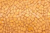 Broken Tiles Mosaic Seamless Pattern. Orange Dark Tile Wall High Resolution Photo Or Brick Seamless  poster