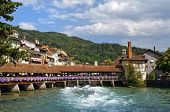 Wooden Sluice Bridge In Thun
