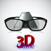 Постер, плакат: 3D игры Новая технология Векторные иллюстрации