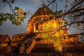 Wat Chedi Luang Temple Of The Royal Stupa Chiang Mai Thailand poster