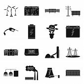Vector Illustration Of Climate And Alternative Symbol. Collection Of Climate And Nature Vector Icon  poster