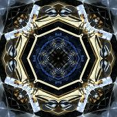 Seamless Symmetrical Pattern Abstract Futuristic Machine Texture poster